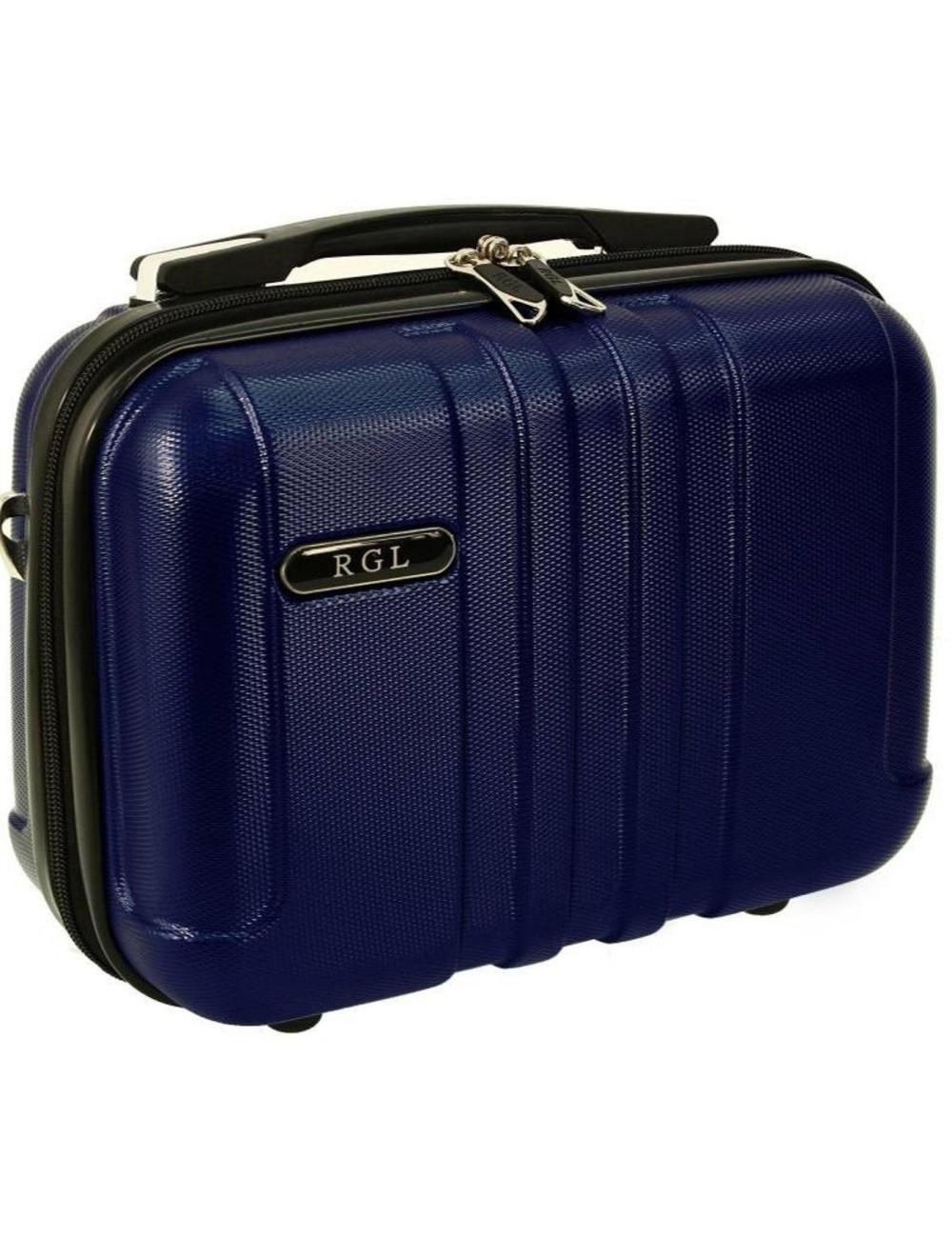 Średni kuferek kosmetyczka 740 XL - granatowy