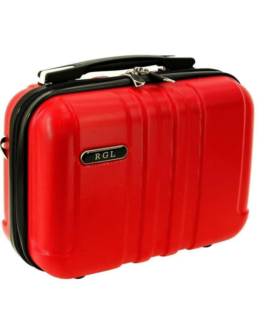 Średni kuferek kosmetyczka 740 XL - czerwony