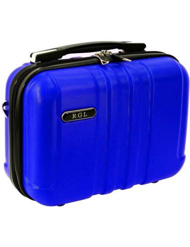 Średni kuferek kosmetyczka 740 XL - niebieski