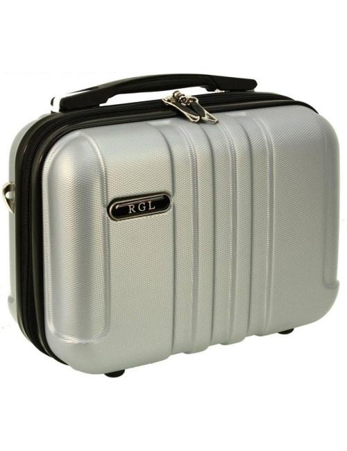Mały kuferek kosmetyczka 740 L - srebrny