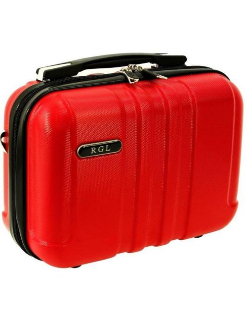 Mały kuferek kosmetyczka 740 L - czerwony