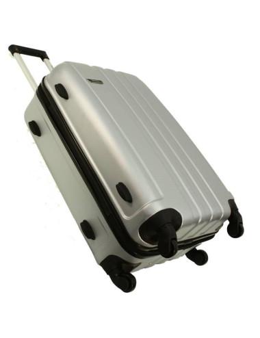 Zestaw walizek podróżnych 3w1 + Kuferek 740 RGL - stopki stabilizacyjne z boku walizki