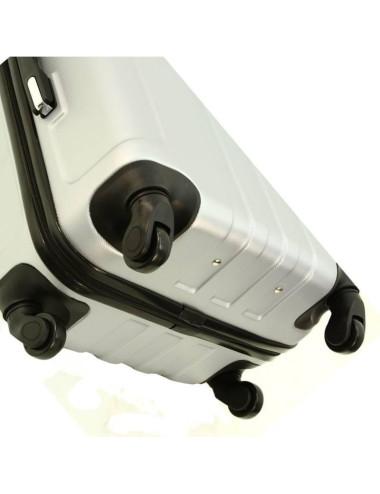 Zestaw walizek podróżnych 3w1 + Kuferek 740 RGL - cztery obrotowe kauczukowe kółka