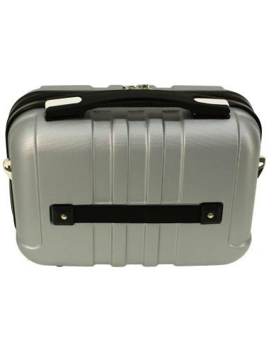 Zestaw walizek podróżnych 3w1 + Kuferek 740 RGL - mocowanie kuferka do walizki