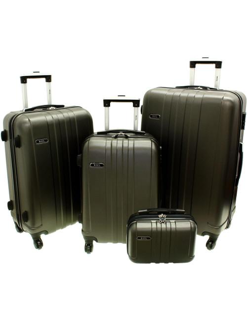 Zestaw walizek podróżnych 3w1 + Kuferek 740 RGL - grafitowy