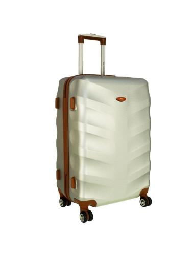 Średnia walizka podróżna XL 6881 RGL Exclusive - srebrny