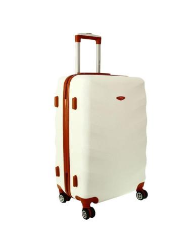 Średnia walizka podróżna XL 6881 RGL Exclusive - śnieżny