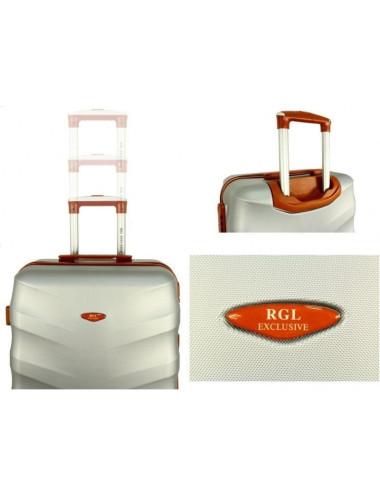 Średnia walizka podróżna XL 6881 RGL Exclusive - uchwyt i logo