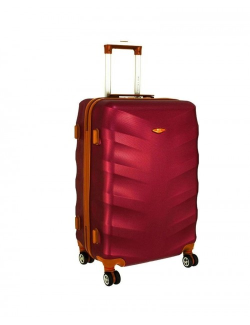 Średnia walizka podróżna XL 6881 RGL Exclusive - wino