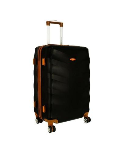 Średnia walizka podróżna XL 6881 RGL Exclusive - czarny
