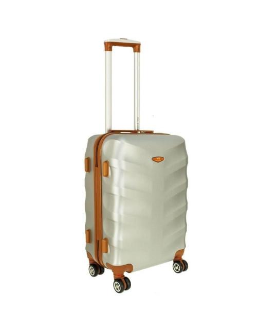 Mała walizka podróżna L 6881 RGL Exclusive - srebrny