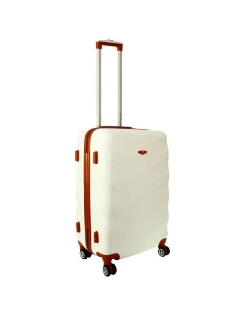 Mała walizka podróżna L 6881 RGL Exclusive - śnieżny