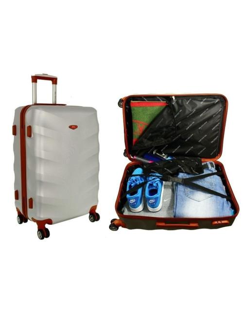 Mała walizka podróżna L 6881 RGL Exclusive - dwie pojemne komory