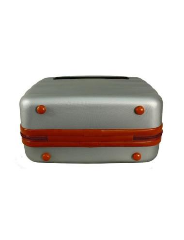 Mała  Walizka podróżna + Mały Kuferek 6881 RGL - stopki zabezpieczające