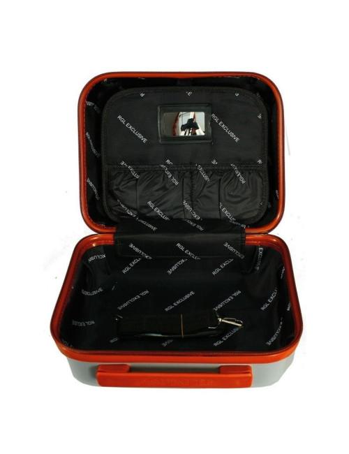 Średnia Walizka + Średnia Kuferek 6881 RGL (XL + XL) - wnętrze kuferka