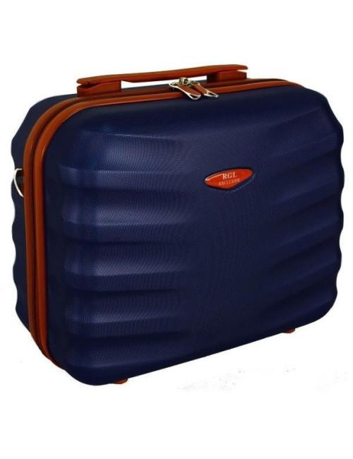 6881 RGL Średni Kuferek podróżny Carbon - granatowy