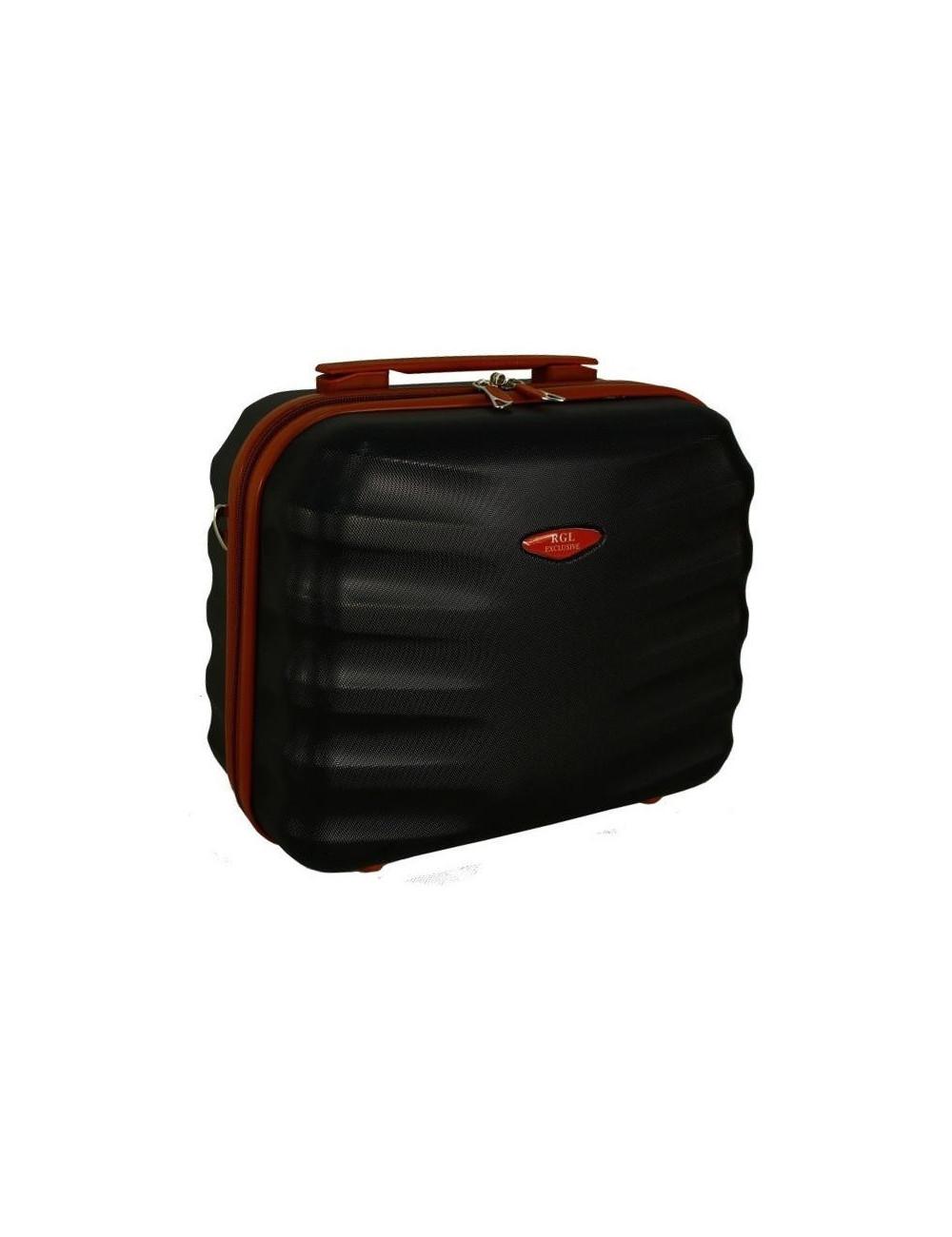 6881 RGL Średni Kuferek podróżny Carbon - czarny