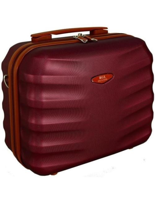 6881 RGL Średni Kuferek podróżny Carbon - wino