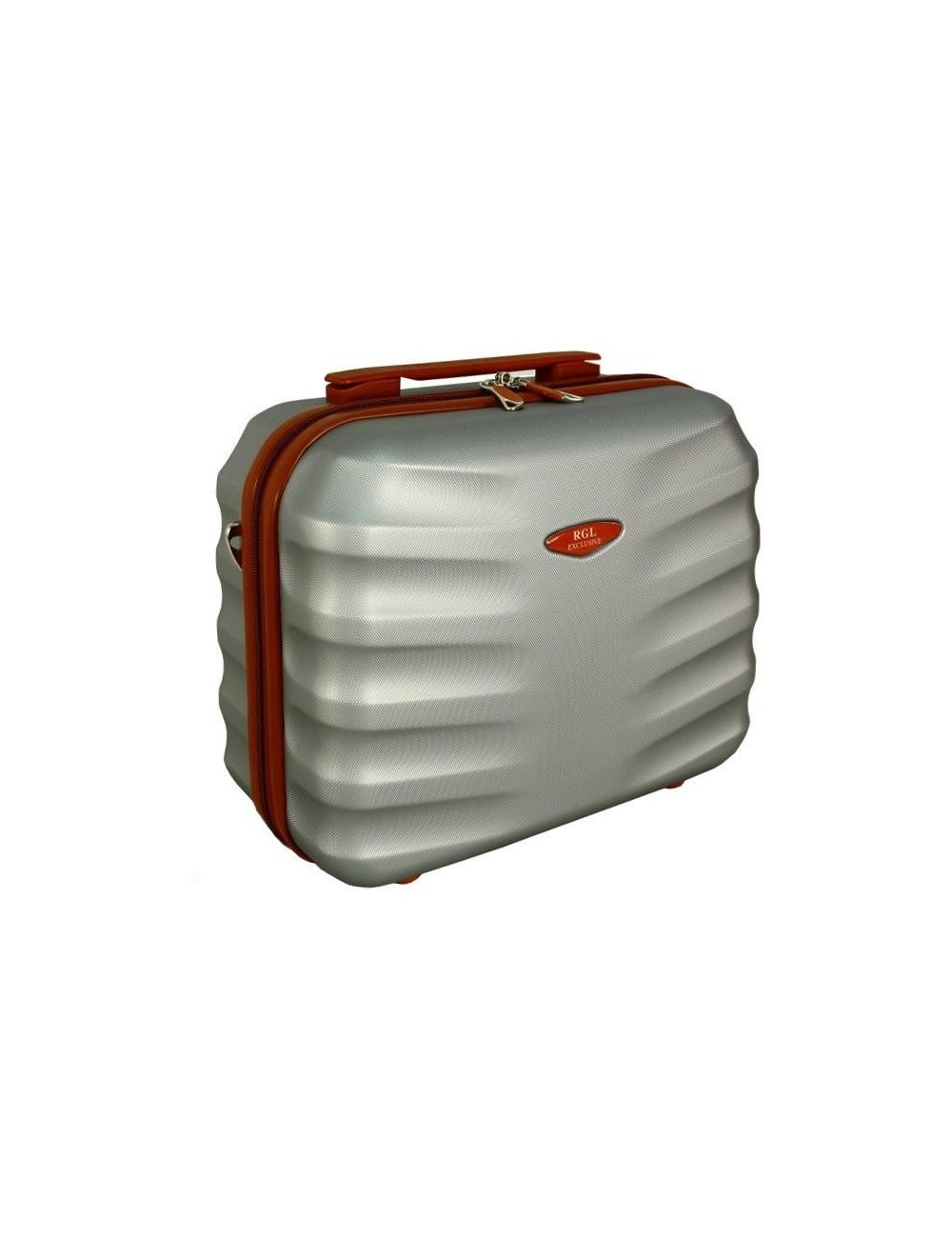 6881 RGL Średni Kuferek podróżny Carbon - srebrny