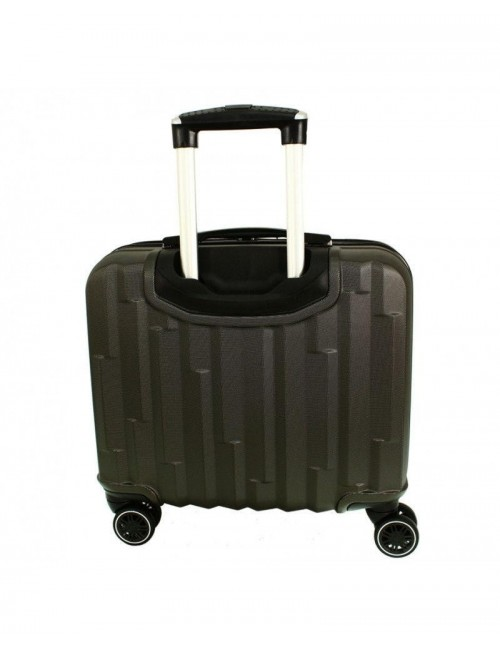 618 Biznesowa Walizka Podróżna Na Kółkach Carbon - tył walizki