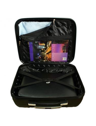 618 Biznesowa Walizka Podróżna Na Kółkach Carbon - przegródka i kieszonka w środku walizki