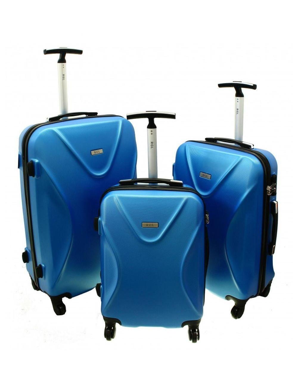 Zestaw walizek podróżnych 3w1 750 XXL XL L - niebieski