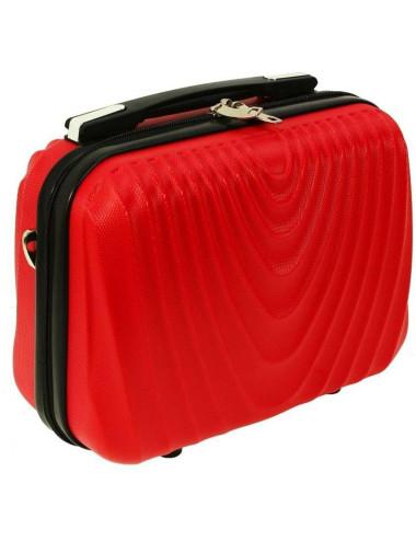 Mały kuferek kosmetyczka podróżna 663 RGL - czerwony
