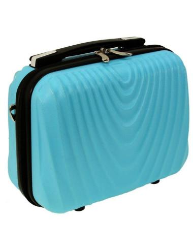 Mały kuferek kosmetyczka podróżna 663 RGL - lazurowy