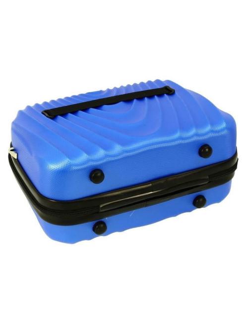 Mały kuferek kosmetyczka podróżna 663 RGL - stopki zabezpieczające