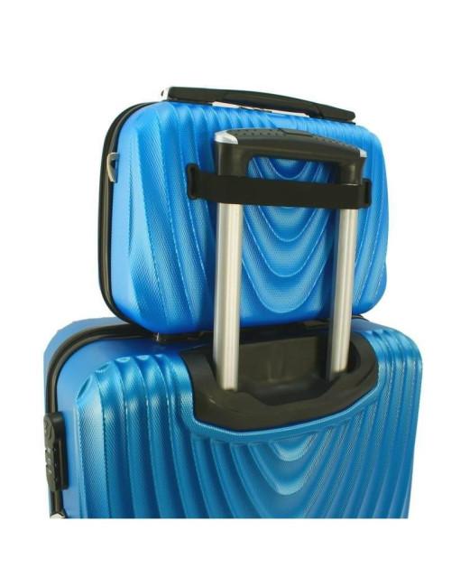 Mały kuferek kosmetyczka podróżna 663 RGL - na rączce walizki