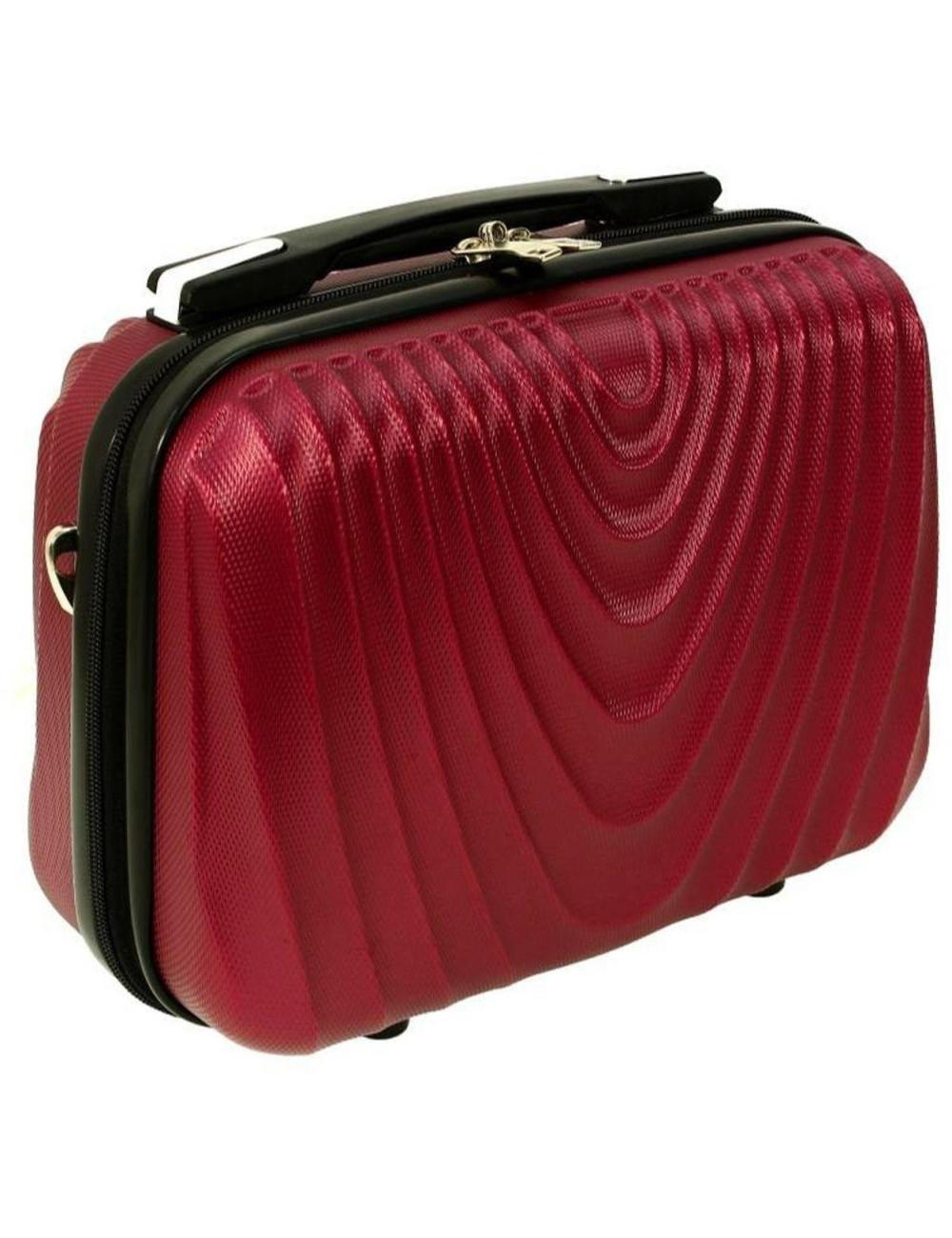 Średni kuferek kosmetyczka podróżna 663 XL RGL - bordowy