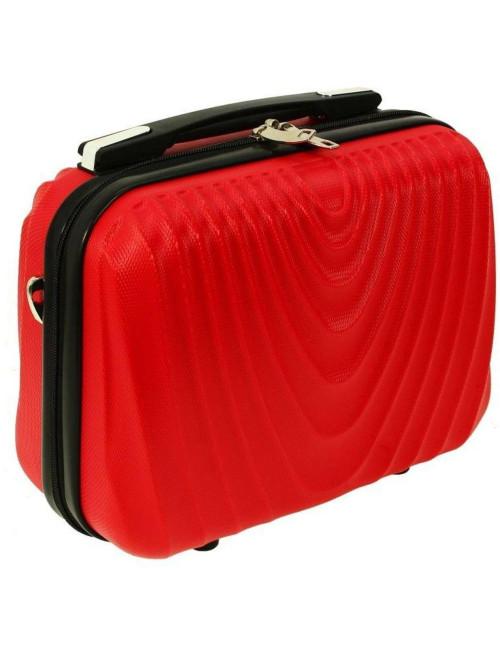 Średni kuferek kosmetyczka podróżna 663 XL RGL - czerwony