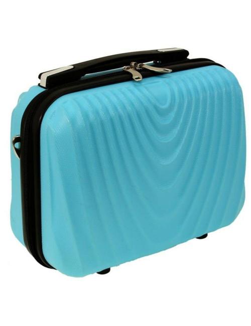 Średni kuferek kosmetyczka podróżna 663 XL RGL - lazurowy