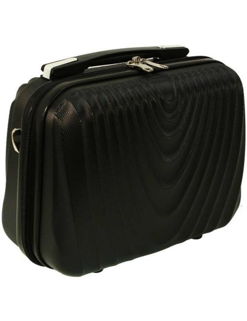 Średni kuferek kosmetyczka podróżna 663 XL RGL - czarny