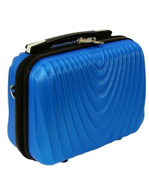 Średni kuferek kosmetyczka podróżna 663 XL RGL - niebieski