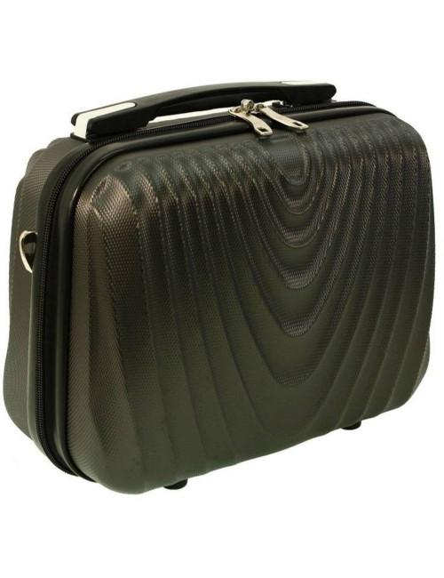 Średni kuferek kosmetyczka podróżna 663 XL RGL - grafitowy